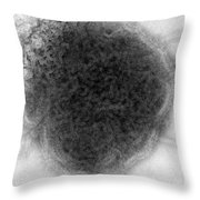 Mumps Virus, Tem Throw Pillow