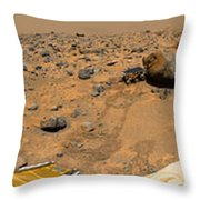 Panoramic View Of Mars Throw Pillow