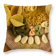 Pasta Throw Pillow by Photo Researchers, Inc.
