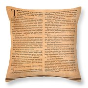 Presidential Campaign, 1928 Throw Pillow