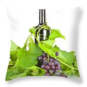 Red Wine Throw Pillow by Joana Kruse