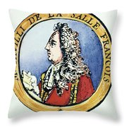 Sieur De La Salle Throw Pillow