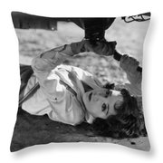 Silent Film: Automobiles Throw Pillow