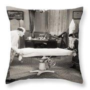 Silent Film Still: Doctor Throw Pillow