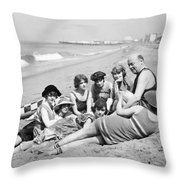 Silent Still: Bathers Throw Pillow