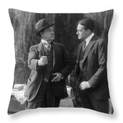 Silent Still: Two Men Throw Pillow