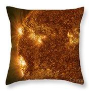 Solar Activity On The Sun Throw Pillow