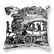 Stagecoach, 19th Century Throw Pillow