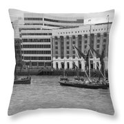 Thames Barges Tower Bridge 2012 Throw Pillow