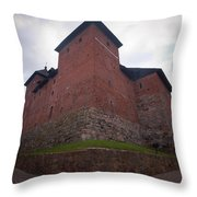 The Castle Of Tavastehus Throw Pillow
