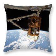 The Japanese H-ii Transfer Vehicle Throw Pillow by Stocktrek Images