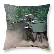 The Piranha IIic Of The Belgian Army Throw Pillow