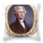 Thomas Jefferson (1743-1826): Throw Pillow
