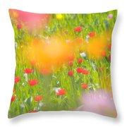 Tulips Throw Pillow by Silke Magino