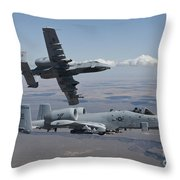 Two A-10 Thunderbolts Fly Throw Pillow