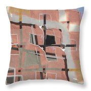 Urban Abstract San Diego Throw Pillow