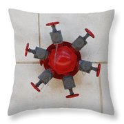 6 Valve Throw Pillow
