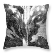 Verne: Earth To Moon Throw Pillow