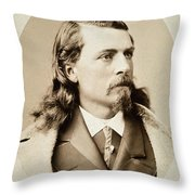 William F. Cody (1846-1917) Throw Pillow