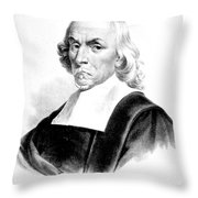 William Harvey, English Physician Throw Pillow by Science Source