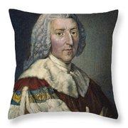 William Pitt (1708-1778) Throw Pillow
