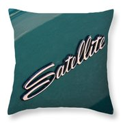 65 Plymouth Satellite Logo-8502 Throw Pillow