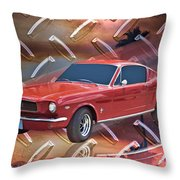 66 Fastback Throw Pillow