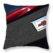 67 Black Camaro Ss Bow Tie Throw Pillow