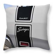69 Dart Swinger Throw Pillow
