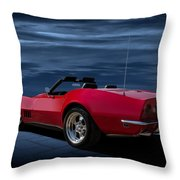 69 Red Throw Pillow