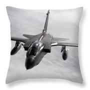 A Luftwaffe Tornado Ids Over Northern Throw Pillow