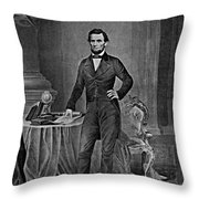 Abraham Lincoln, 16th American President Throw Pillow