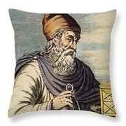 Archimedes (287?-212 B.c.) Throw Pillow