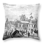 Centennial Fair, 1876 Throw Pillow by Granger
