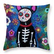 Chihuahua Dia De Los Muertos Throw Pillow