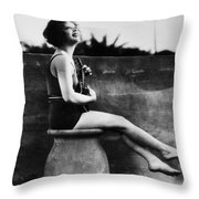 Clara Bow (1905-1965) Throw Pillow by Granger