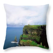 Cliffs Of Moher, Co Clare, Ireland Throw Pillow