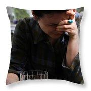 Depression And Addiction Throw Pillow