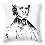 Edgar Allan Poe (1809-1849) Throw Pillow
