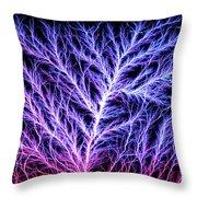 Electrical Discharge Lichtenberg Figure Throw Pillow