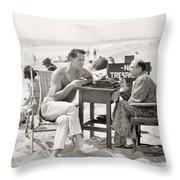 Film Still: Beach Throw Pillow