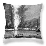 First Opium War, 1841 Throw Pillow