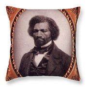 Frederick Douglass African-american Throw Pillow by Photo Researchers