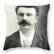 Guy De Maupassant Throw Pillow