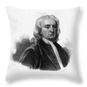 Isaac Newton, English Polymath Throw Pillow by Science Source