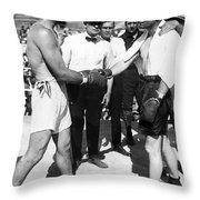 Jack Dempsey (1895-1983) Throw Pillow