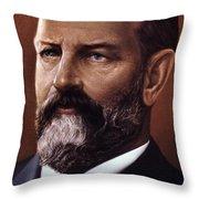 James A. Garfield (1831-1881) Throw Pillow