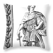 Julius Caesar (100 B.c.-44 B.c.) Throw Pillow
