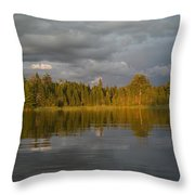 Lake Of The Woods, Ontario, Canada Throw Pillow
