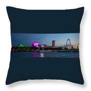 London Skyline Sunset Throw Pillow